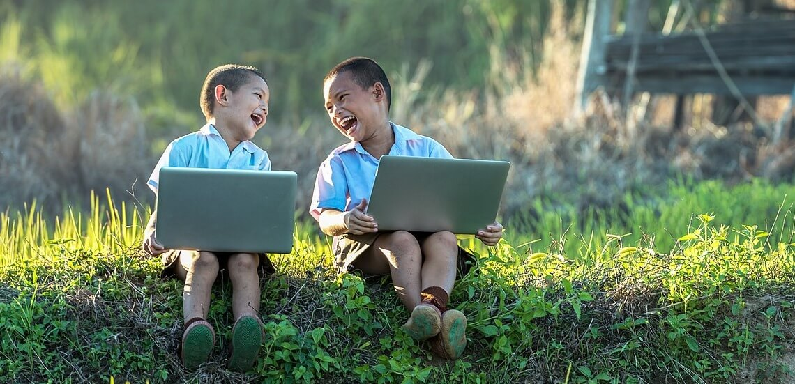 Asien Kinder Startfoto